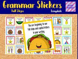 Stickers - marking stickers / Grammar / Full stops