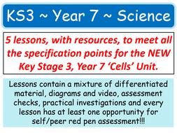 NEW KS3 ~ Year 7 ~ B1 Cells