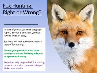 Fox Hunting - Essay Writing