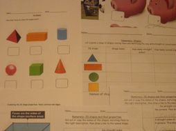 Maths- shape, money, numeracy dice games, patterns, big and small