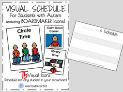 visual schedule featuring boardmaker ready to go class personal