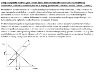 'Assess the usefulness of behavioural economic theory compared to traditional economic policies...