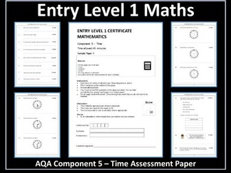 AQA Entry Level Maths Assessment - Time