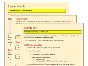 KS3 CT Computational Thinking Series: Searching and Sorting