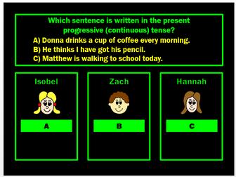 Present Tense PPT Powerpoint Game by Grammatickx