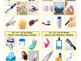 Health and Personal Hygiene Tic-Tac-Toe or Bingo