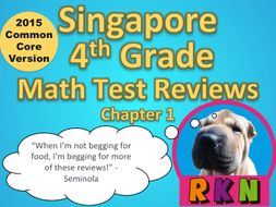 Singapore 4th Grade Chapter 1 Math Test Review (2015 Common Core Version)