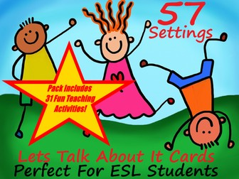 57 ESL Setting Cards For Conversation Practice + 31 Fun Teaching Activities For These Cards