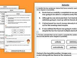 Grammar Year 6 Adverbs Autumn Block 1 Homework Extension