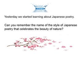 Haiku lesson ks2
