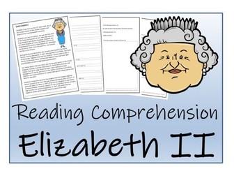 UKS2 History - Queen Elizabeth II Reading Comprehension Activity