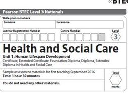 Health and Social Care - Unit 1 Practice exam