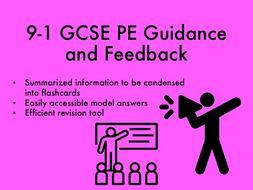 9-1 GCSE PE Guidance and Feedback