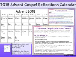 2018 advent gospel reflection calendar by thepenlicence. Black Bedroom Furniture Sets. Home Design Ideas