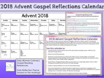 2018 Advent Gospel Reflection Calendar