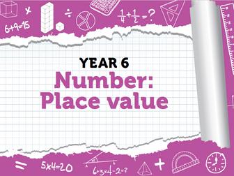 Year 6 - Place Value - Bonus Pack