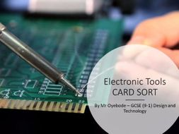 Electronic Tools CARD SORT