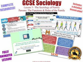 Parsons on Functions of The Family - Sociology - L3/20 [ AQA GCSE Sociology - 8192] Families