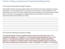 Spanish A level Translation Workbook