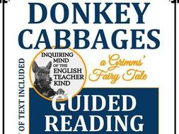 """Donkey Cabbages,"" A Grimms' Fairy Tale - Guided Reading & Annotating Worksheet"