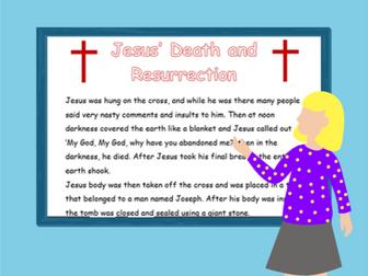 Jesus' Death and Resurrection Comprehension (Easter)
