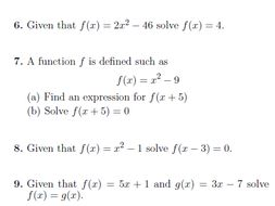 9 GCSE/IGCSE Math worksheets (with solutions)