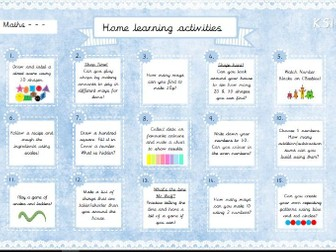 Home Learning Activities - Maths