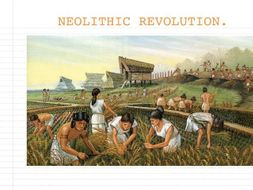 Neolithic Revolution Powerpoint and Cloze Passage