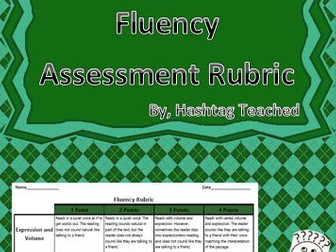 Oral Presentation Fluency Assessment (Rubric Only)