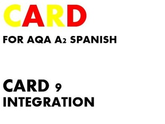 SPEAKING CARD 9 for AQA A2 SPANISH