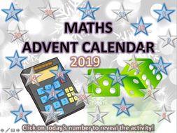 Maths Christmas Quiz Advent Calendar