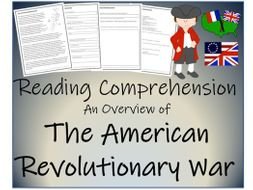 UKS2 History - An Overview of the American Revolutionary War Reading Comprehension