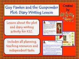 Guy Fawkes and the 5th November Gunpowder Plot: Diary Writing Lesson