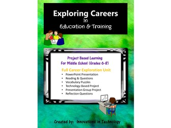 Exploring Careers:  Education & Training