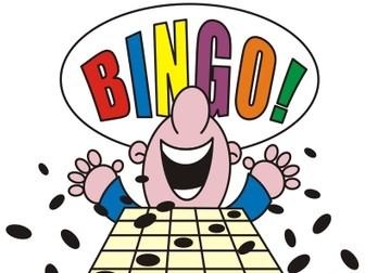 Maths Bingo 4 games KS3 KS4 years 7 - 11