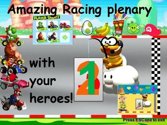Mario Kart Race Plenary with your favourite heroes!!