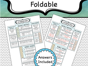 Periodic Table Foldable