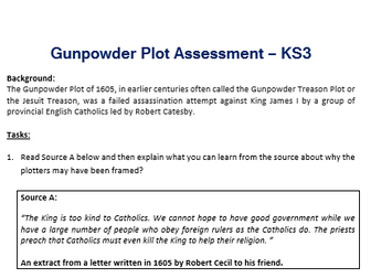 Gunpowder Plot Assessment