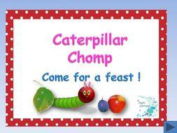 The Very Hungry Caterpillar - Caterpillar Chomp sight/vocabulary words