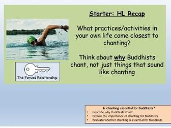GCSE Buddhism Puja: Buddhist Chanting