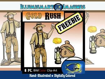 Secondary 8 pc. ClipArt California Gold Rush!