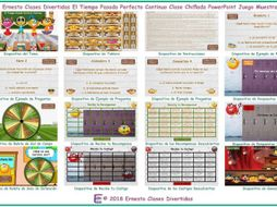 Past Perfect Continuous Tense Kooky Class Spanish PowerPoint Game-An Original by Ernesto