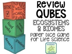 Ecosystems & Biomes Review Qubes for Life Science