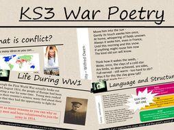 ks3 war poetry poppies by graceandrews1 teaching resources. Black Bedroom Furniture Sets. Home Design Ideas