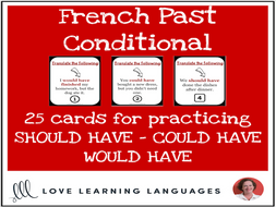 French Past Conditional Lesson - Should have, Could have, Would have