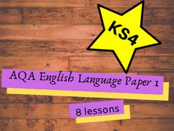 NEW English Language Paper 1 AQA SOW