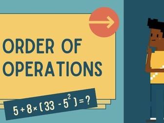 Order of Operations: BIDMAS BODMAS PEDMAS