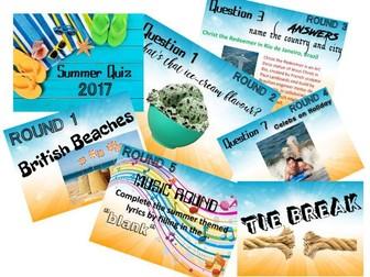 End of Year Summer Quiz 2017
