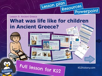 Children in Ancient Greece (Lesson for KS2)