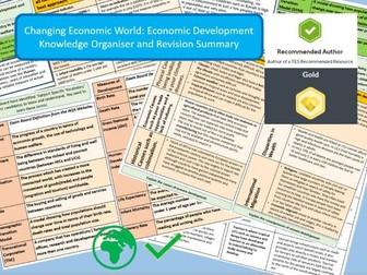 GCSE AQA 9-1 :  Economic World: Knowledge Organisers and Revision Summaries.